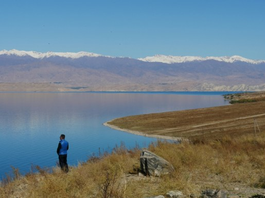 At the Toktogul Reservoir.