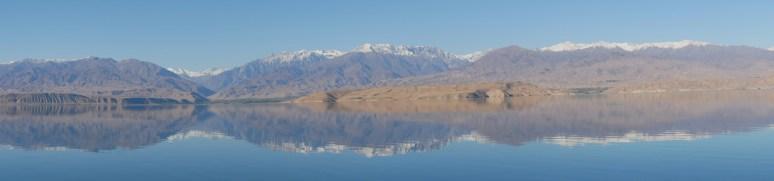 At the Toktogul Reservoir.