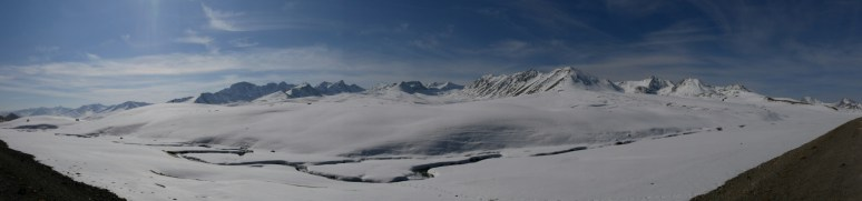 Winterwonderland auf dem Ala Bel Pass (3175m).