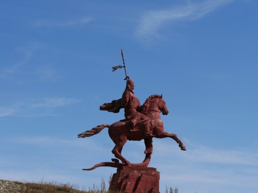 Manas, the kyrgyz national hero.// Manas, der kirgisische Nationalheld.