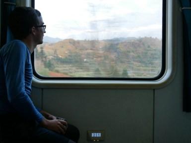 Train.//Im Zug.