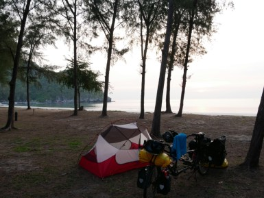 Camping in the national park.