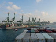 Hafen Singapur.// Harbour Singapore.
