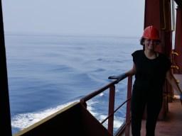 On the upper deck with Lu.// Auf dem Aussendeck mit Lu.