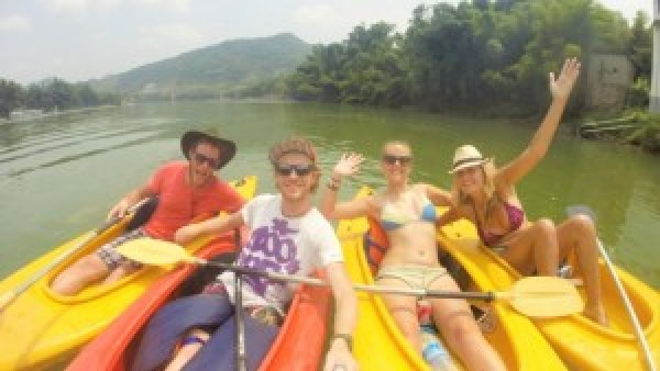 Kayaking Li River
