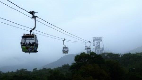 Ngong Ping cable car, Lantau Island Hong Kong