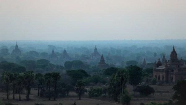Misty temples of Bagan