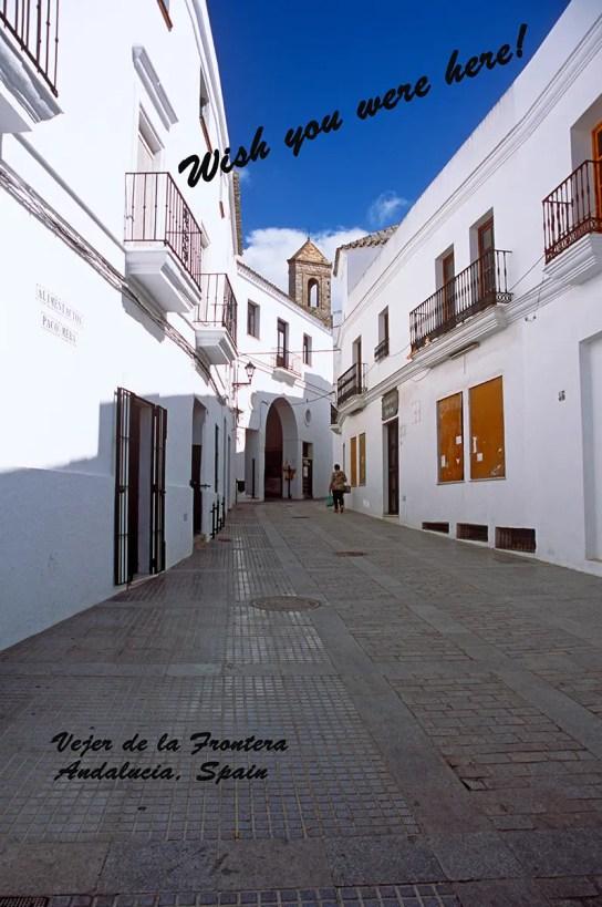 Street in Vejer de la Frontera, Andalucia, Spain