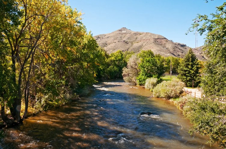 View of Lookout Mountain and Clear Creek