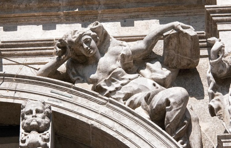 Carving on San Moise, Venice, Italy
