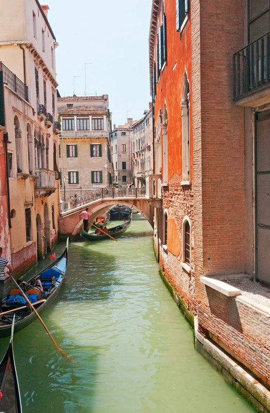 Small canal with boats, Venice, Italy