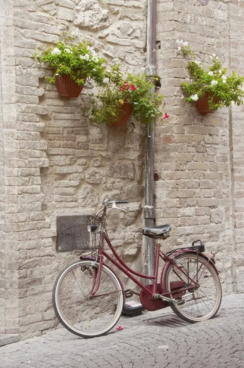 Bike on street, Bevagna, Italy