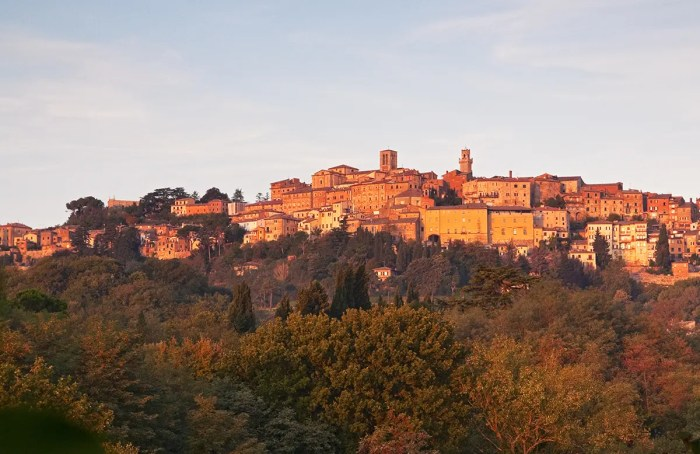 Montepulciano at sunrise