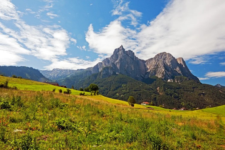 Dolomites of the Alpe di Siusi area, near the towns of Siusi and