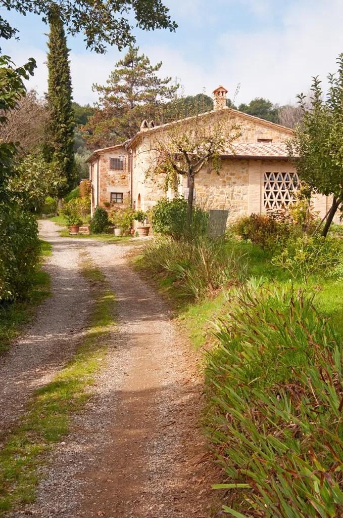 The buildings of Sante Marie di Vignoni