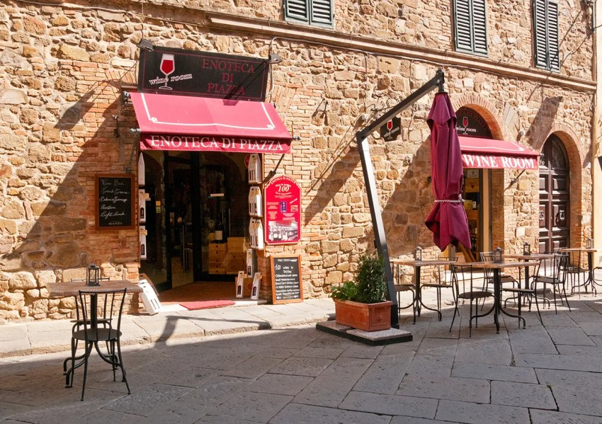 Wine shop in Montalcino