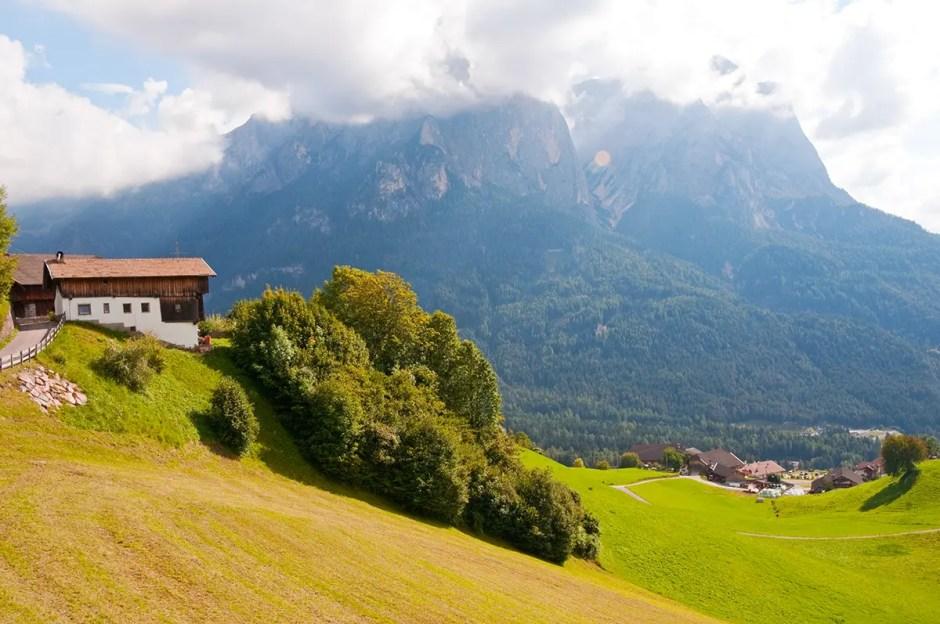 Schlern/Sciliar near the town of Siusi, Italy