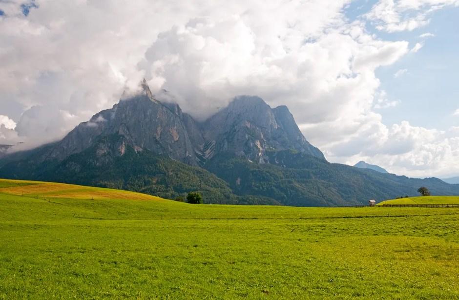 Schlern/Sciliar and the Alpe di Siusi