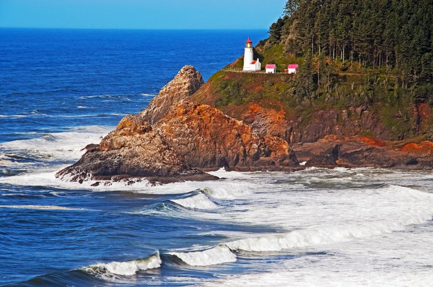 Heceta Head Lighthouse just south of Yachats, Oregon