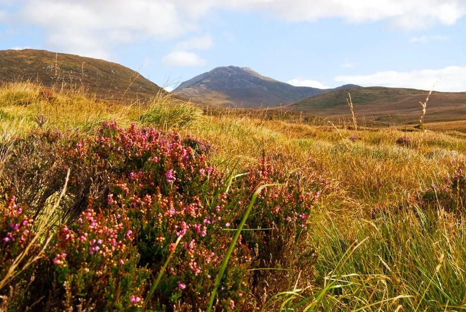 Scenery of Connemara National Park, County Galway, Ireland