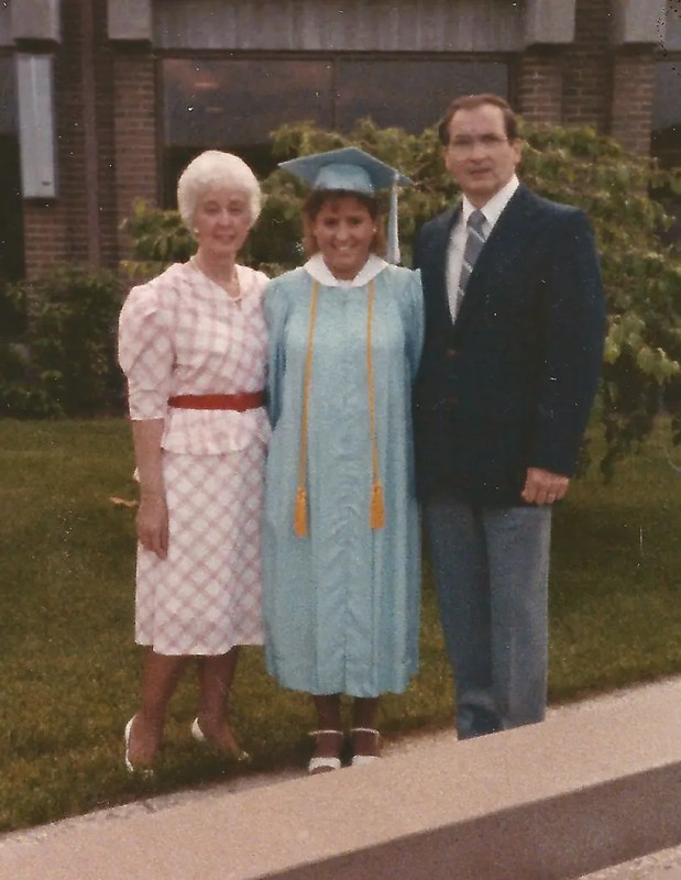 Me and my folks at my high school graduation