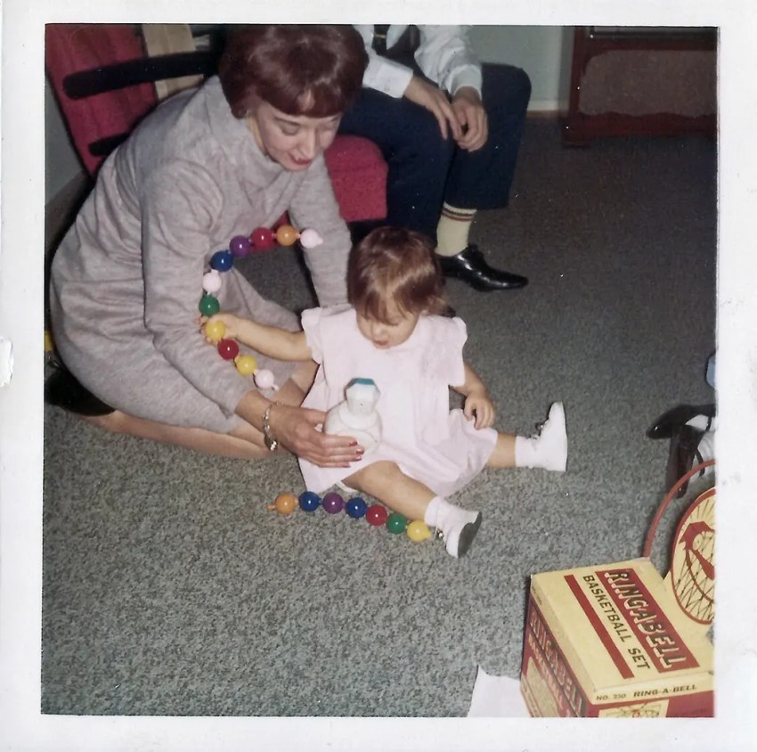 Me and Mom - my first Christmas