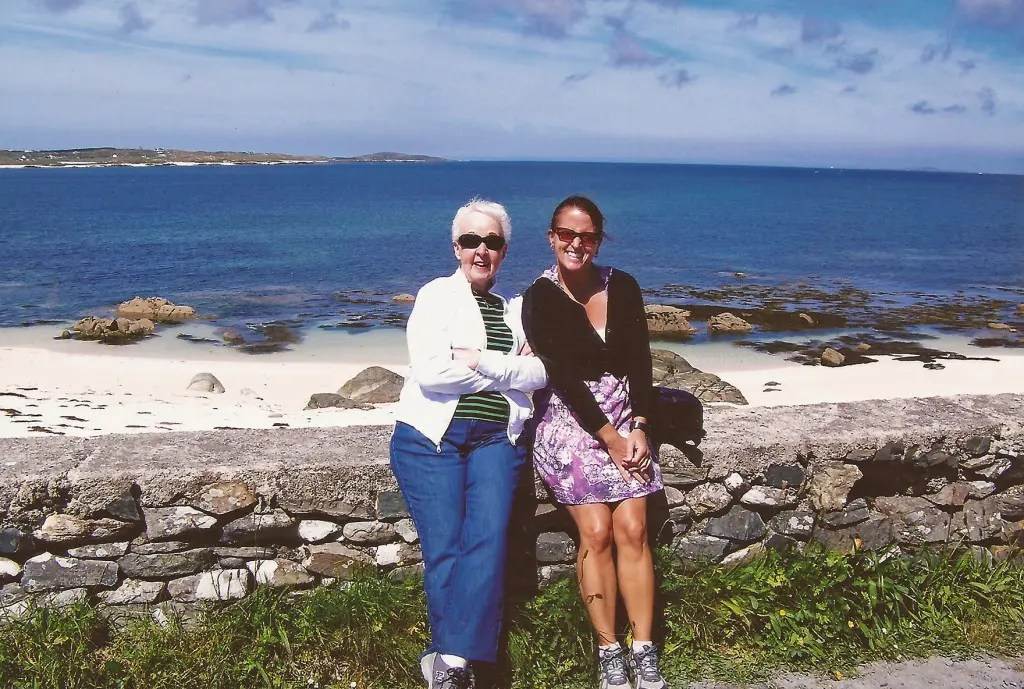 Mom and I in Connemara, County Galway. I'm so glad I have this memory of my mom!!