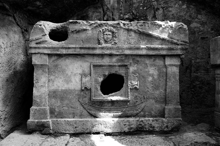 Crypt at the ruins of Olympos, Turkey