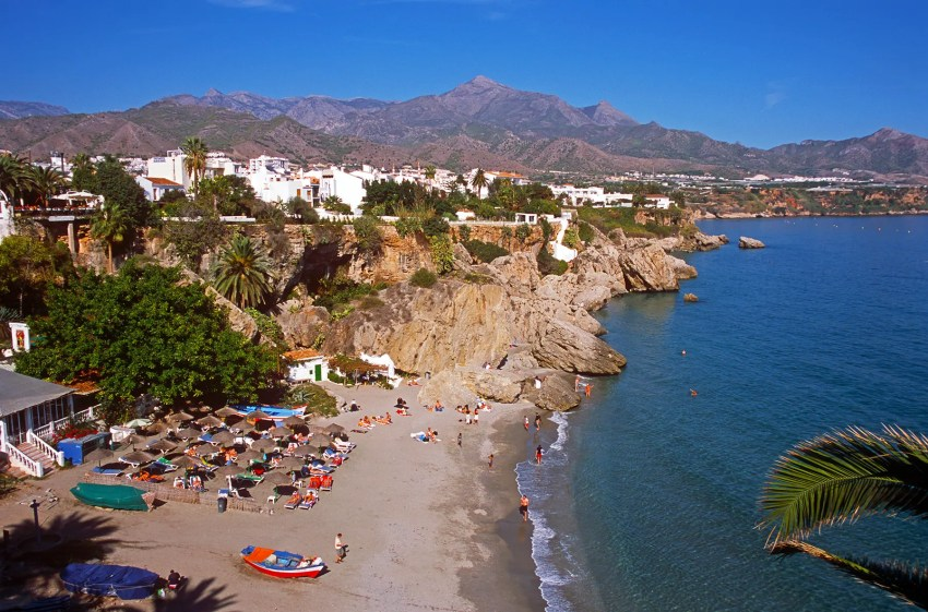 Beach at Nerja, Spain, Andalucia, Afternoon