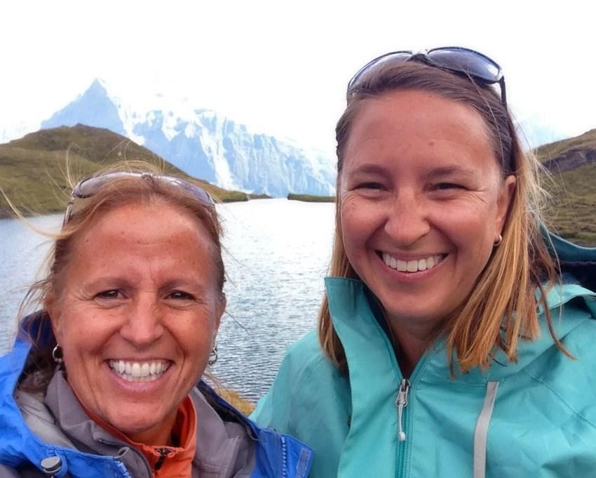 My friend, Lynn and I the Swiss Alps
