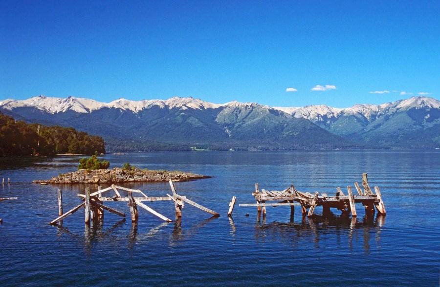 Lago Nahuel Huapi and mountains near Parque Nacional Arrayanes, Villa la Angostura, Patagonia, Argentina