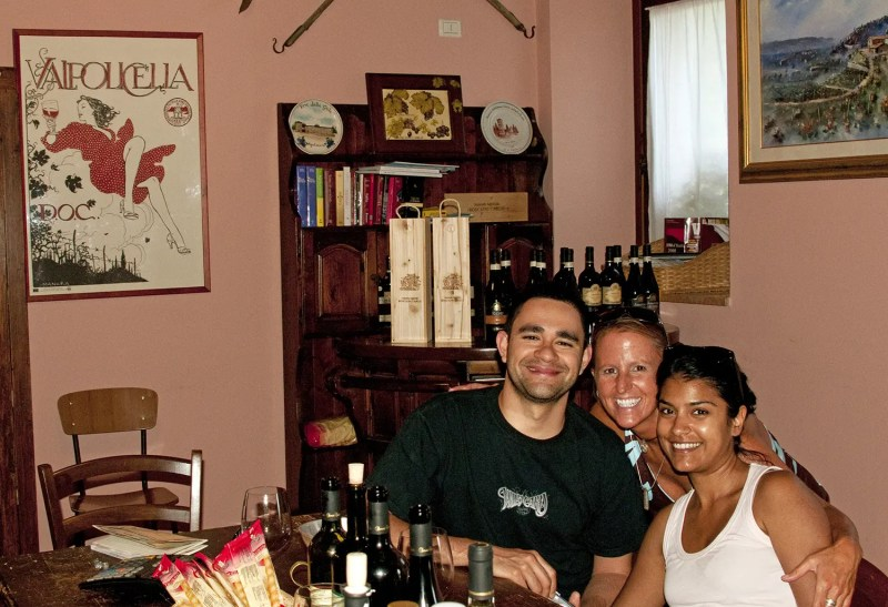 Making new friends as I traveled in Italy in 2011 - Ernesto and Melissa