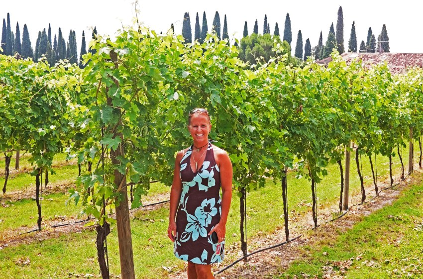 Me at Corte Aleardi Vineyard, Italy