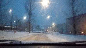 Zima na drogach - Andrychów 20180214_063158