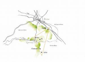 コート・デ・ブランのクラマンに30ha以上の自社畑を有している