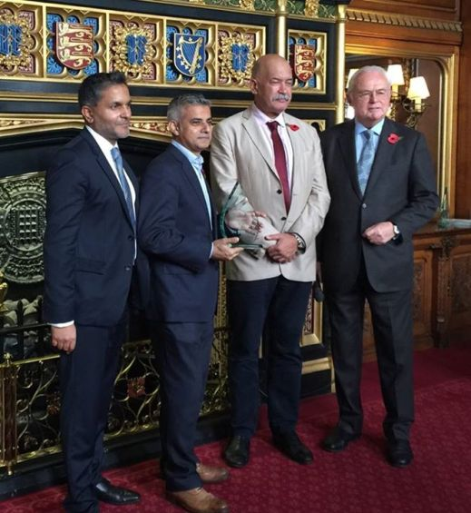 Tooting MP Sadiq Khan has been named the Patchwork Foundation's People's Choice MP of the Year, in an annual ceremony held in the Speaker's House in Parliament.