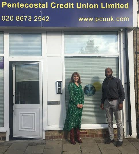 Councillor Jo Rigby at the Pentecostal Credit Union