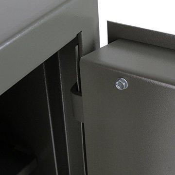 HMF 43200-1111 Möbeltresor Wertschutzschrank, Sicherheitsstufe B, VDMA 24992, 30 x 42 x 38 cm , Ordner, Anthrazit – 4