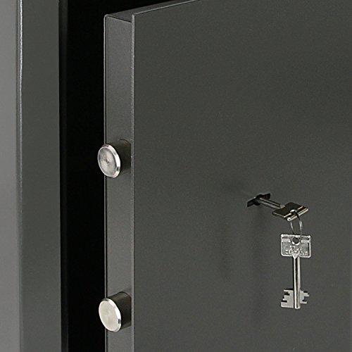 HMF Möbeltresor beste Preisleistung, HMF 43200-1111 Möbeltresor Wertschutzschrank, Sicherheitsstufe B, VDMA 24992, 30 x 42 x 38 cm , Ordner, Anthrazit – 6