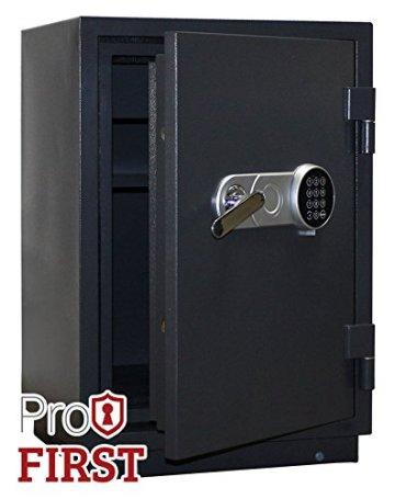 Profirst Versal Fire 65 Feuerschutztresor ECB S FS60P, feuerfester Dokumenschrank, Tresor mit Elektronikschloss, Zertifizierter Möbeltresor inkl. Verankerungsmaterial – 3