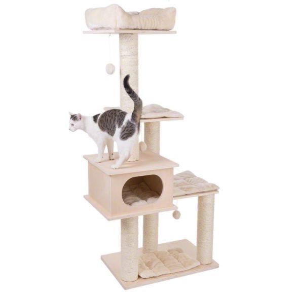 arbre à chat bois luxe sans moquette
