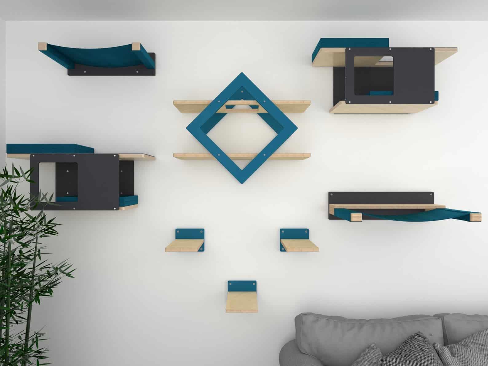arbre a chat mural design parcours aventure hexagone