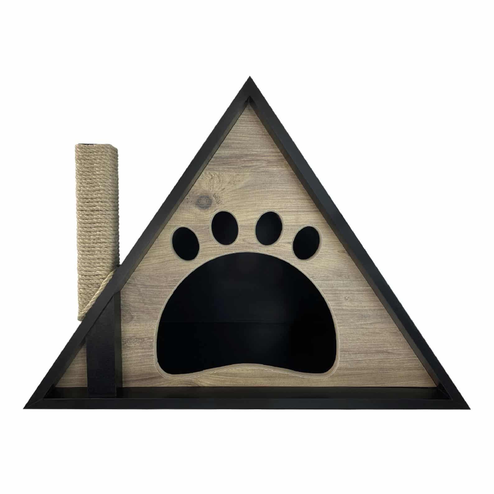 maison niche triangle motif cheminee