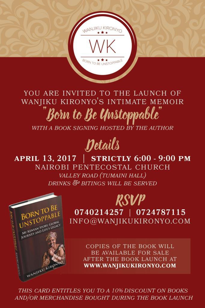 Our Latest Book Launch Wanjiku Kironyo