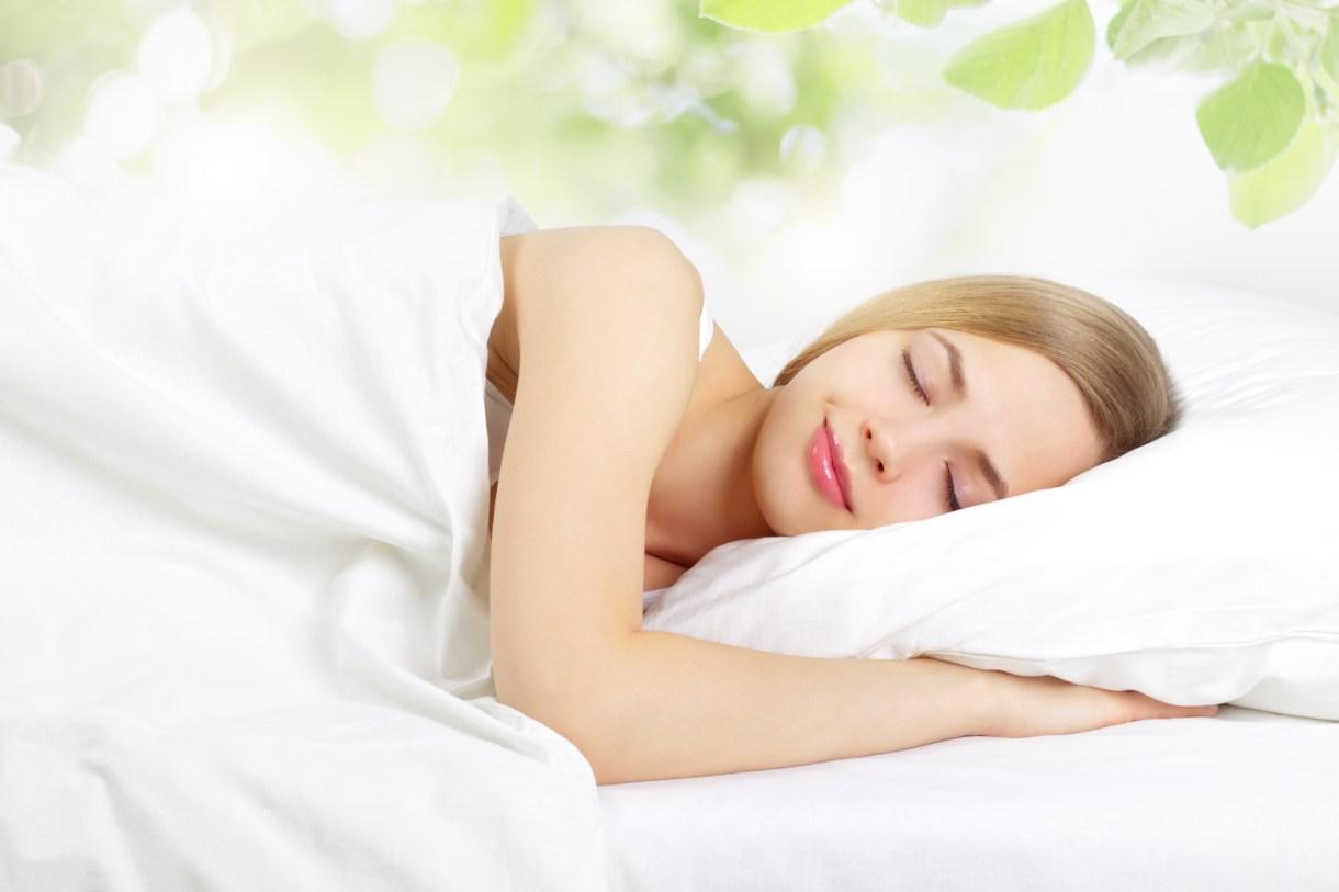 woman sleeping peaceful