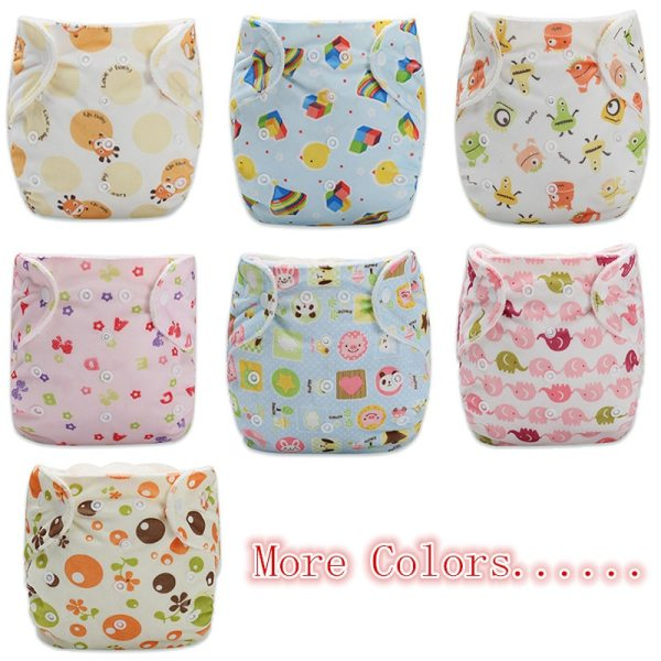 1PC Baby Cloth Diaper Reusable Nappy Baby Newborn Diapers Nappies Pocket Washable Diaper Cover One Size 5