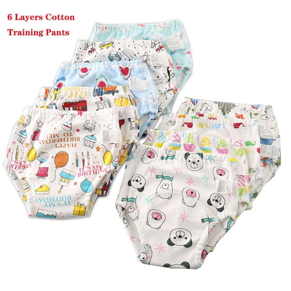 Baby Infant Toddler Waterproof Training Pants Cotton Changing Nappy Cloth Diaper Panties Reusable Washable 4 Layers 3
