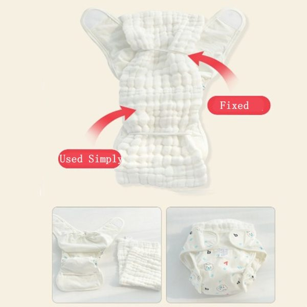 Cartoon Washable Baby Cloth Diaper Pocket Waterproof Cotton Baby Diapers Reusable Cloth Diaper Nappies Cover For 3