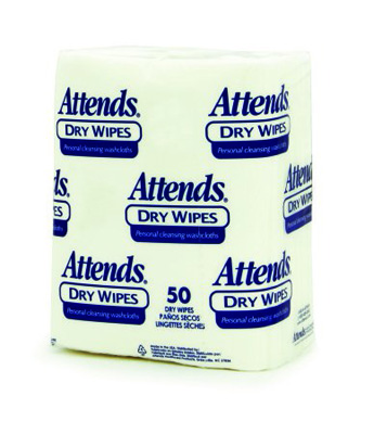 Attends Dry Wipes, Medium-weight - 10 x 13 in - 2503 - 1000/cs