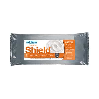 Sage Incontinent Care Wipe Comfort Shield Soft Pack Dimethicone Unscented 3 Count - 7503